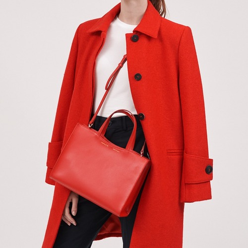 [ESSENTIAL BY UM] DALES TOTE - Crimson Red